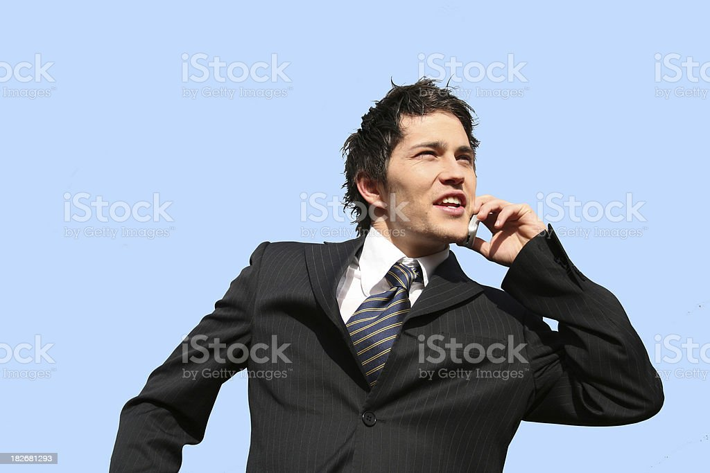 calling business man stock photo