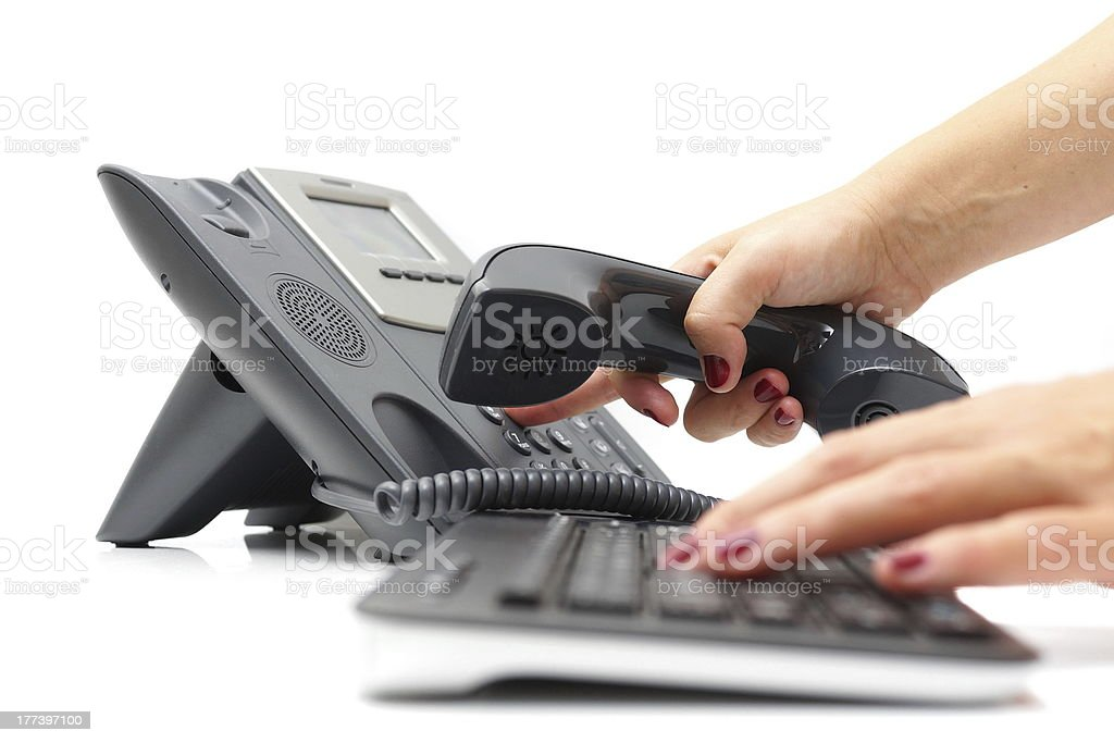 calling customer concept royalty-free stock photo