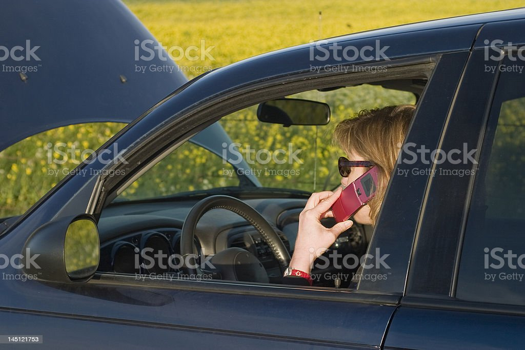 Calling for a tow royalty-free stock photo