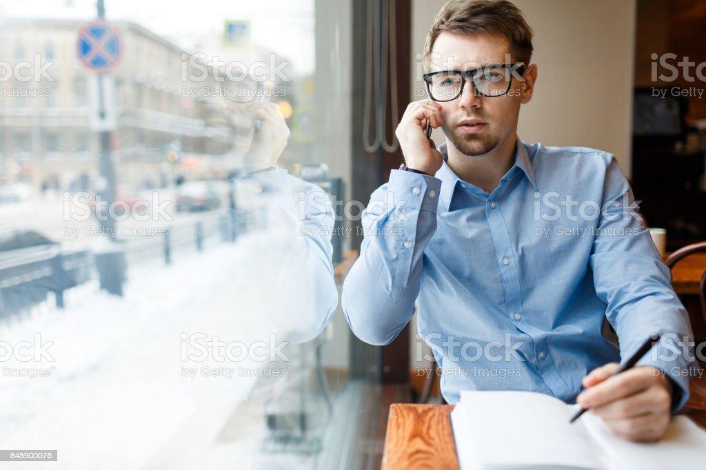 Calling for job stock photo