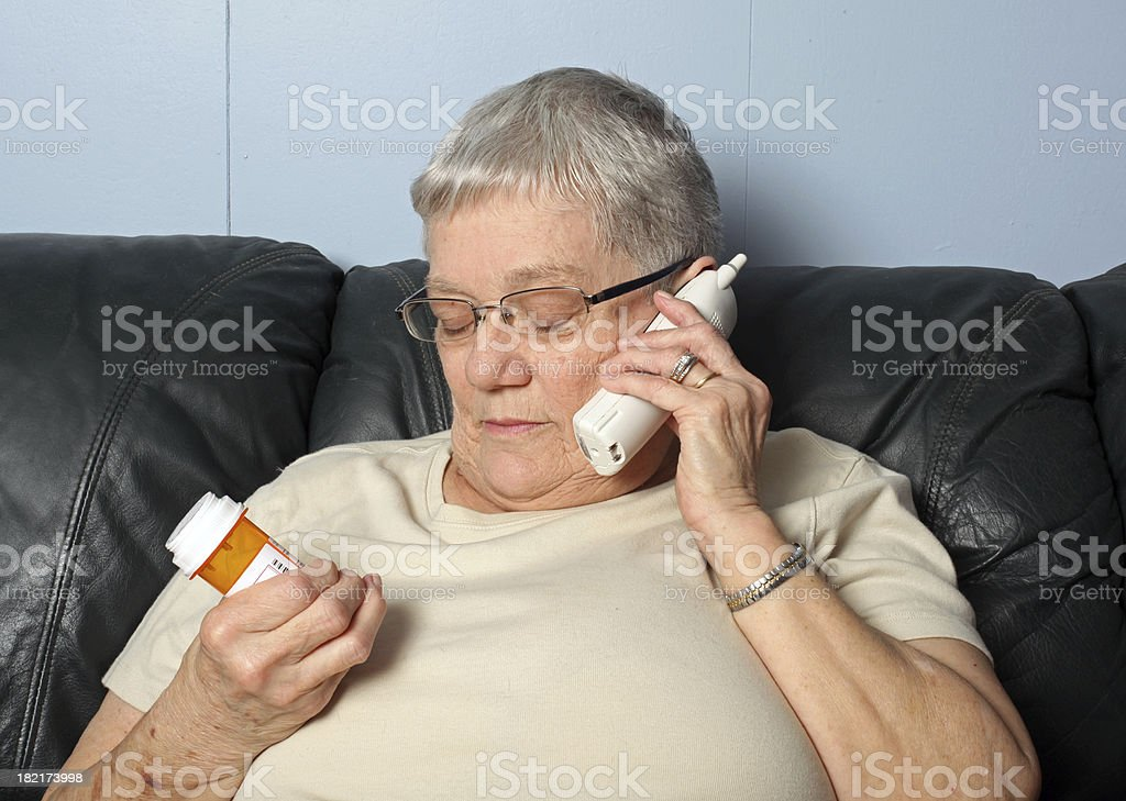 Calling in Medication royalty-free stock photo