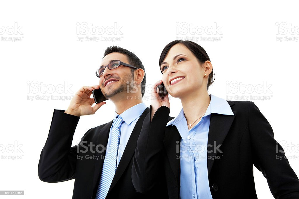 Calling on mobile stock photo
