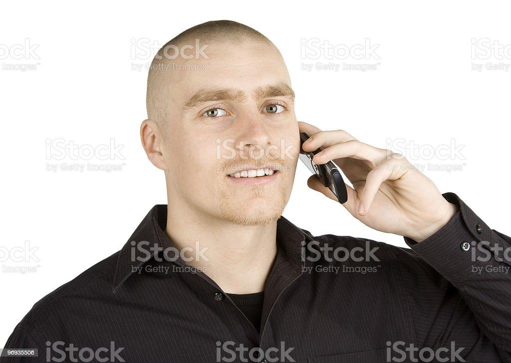 Calling royalty-free stock photo