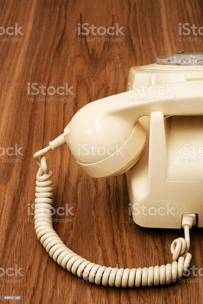Calling Retro royalty-free stock photo