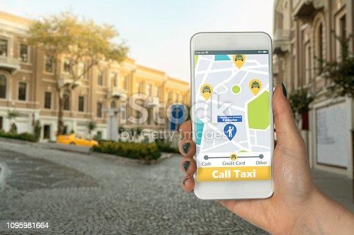istock Calling Taxi 1095981664