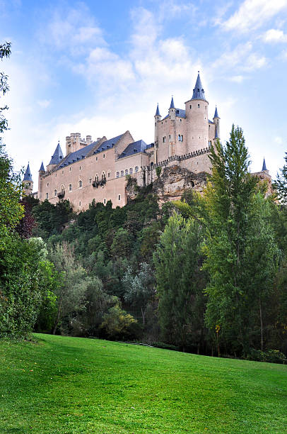 Calm afternoon at the alcazar of Segovia, Spain stock photo
