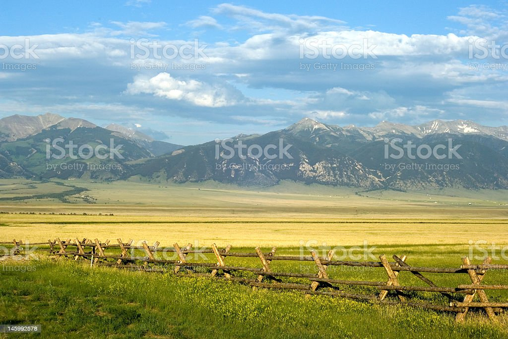 A calm and peaceful Montana Ranch stock photo