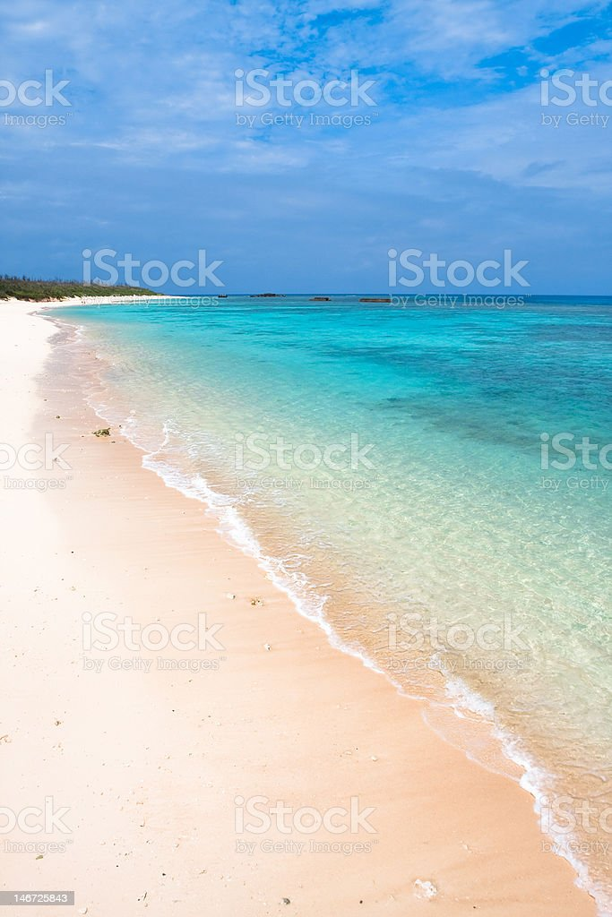 Calm beach on Japanese island royalty-free stock photo