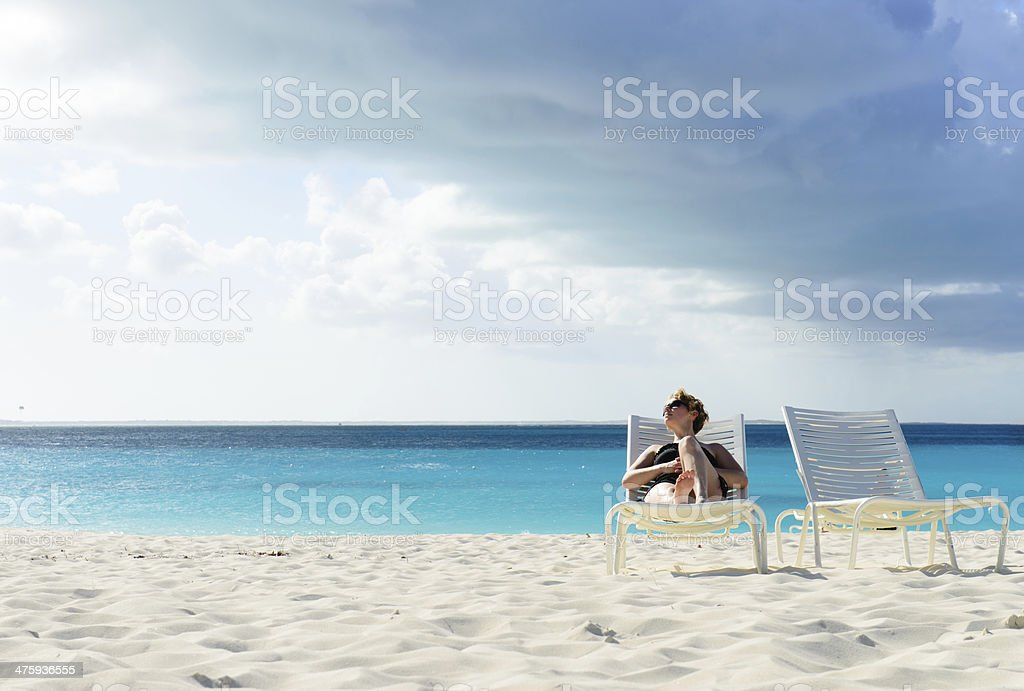 Calm Day at the Beach stock photo