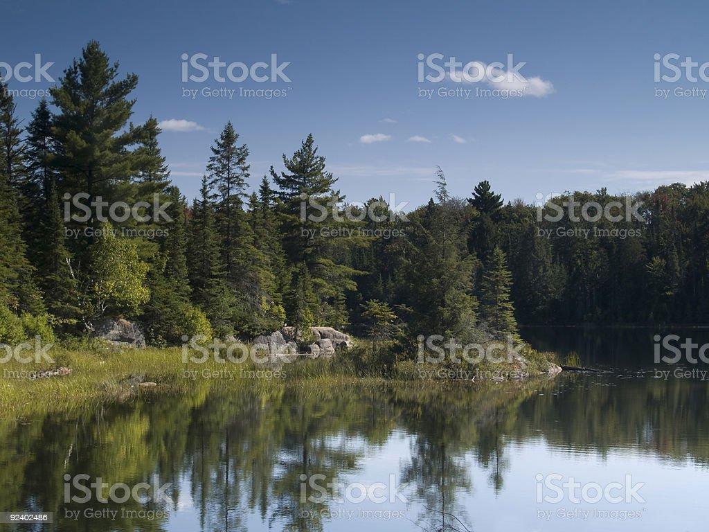 Calm Lake Reflections stock photo