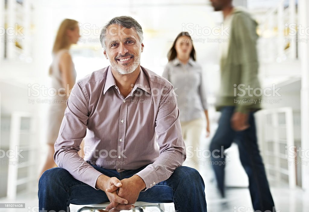 Calm leadership stock photo