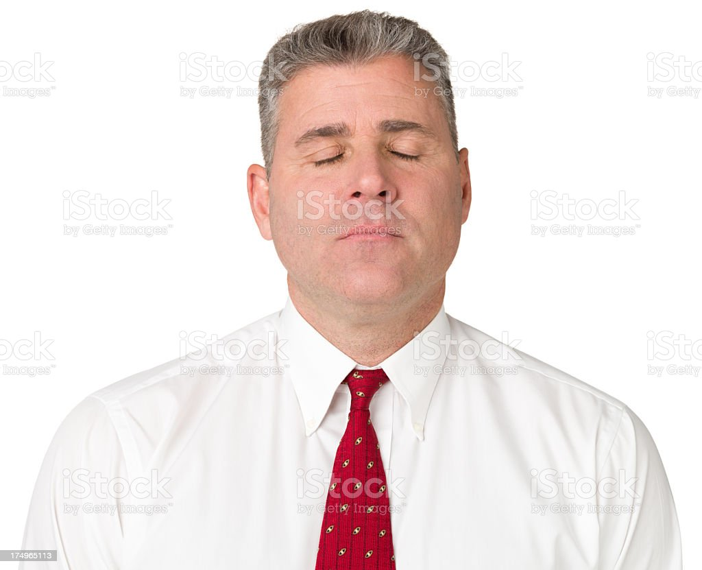 Calm Man With Eyes Closed royalty-free stock photo