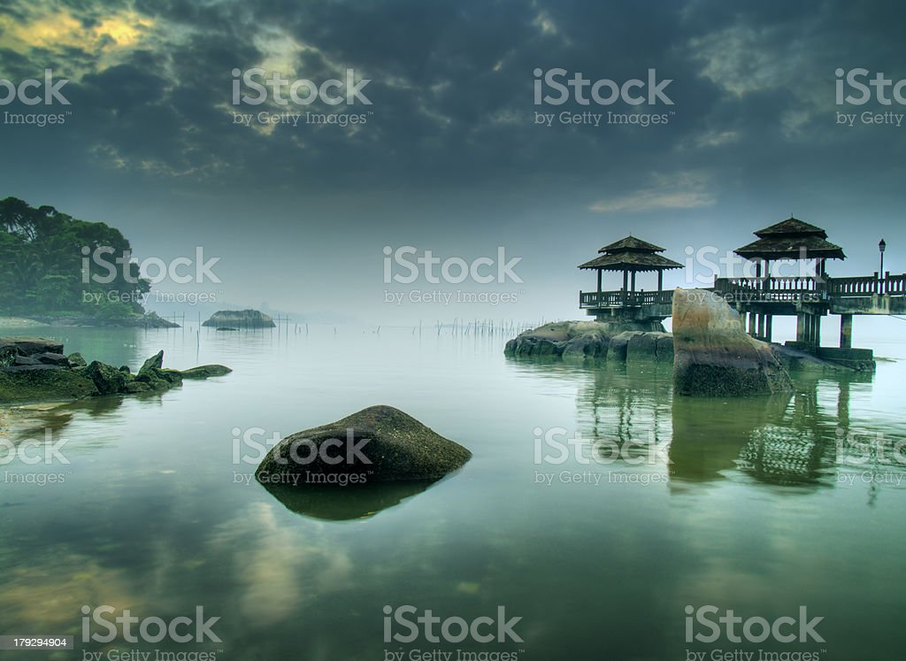 Calm Misty Morning stock photo