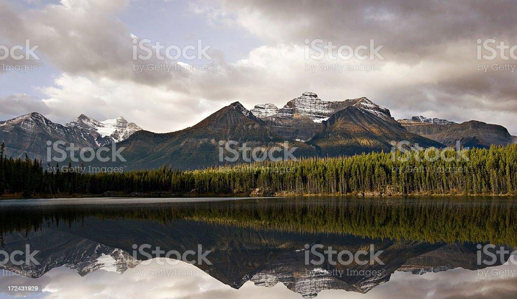 Calm Mountain Lake, Canadian Rockies royalty-free stock photo