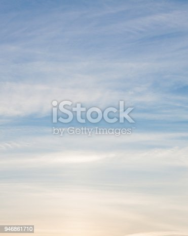 Calm natural evening cloudy sky scape background