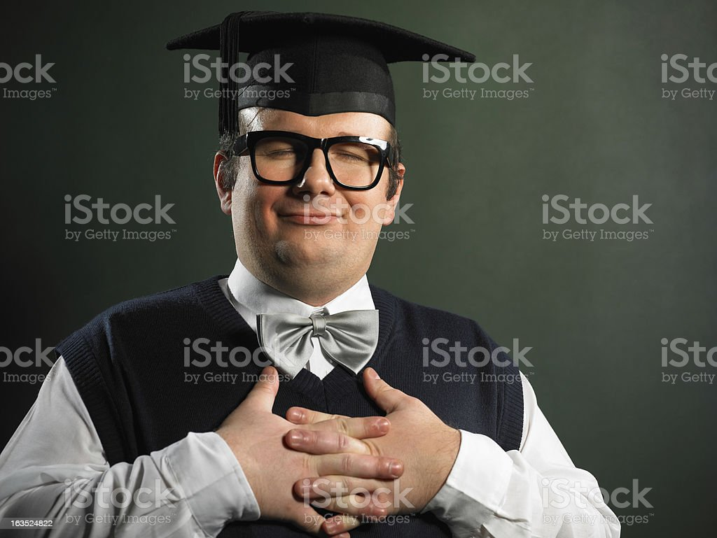 Calm nerd royalty-free stock photo