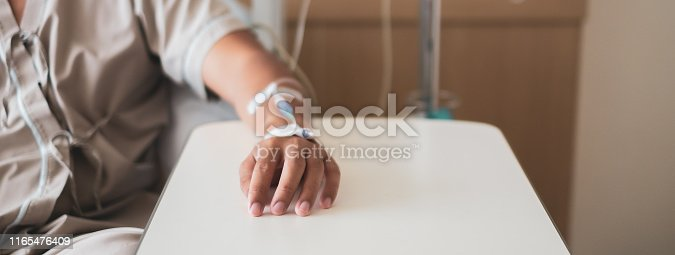 istock Calm patient and infusion 1165476409