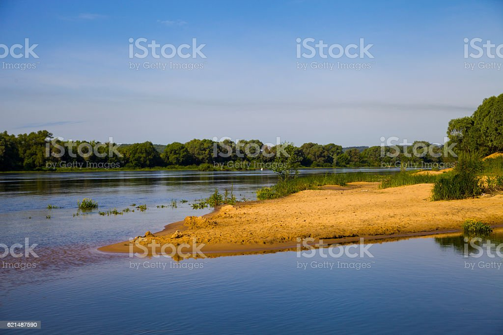 Calm river in the summer day foto stock royalty-free