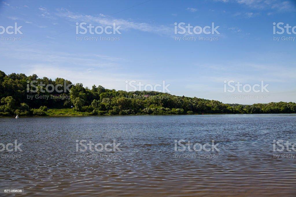 Calm river in the summer day photo libre de droits