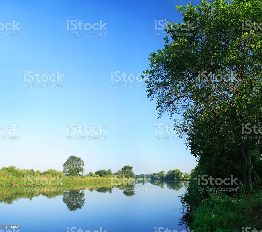 Calm River royalty-free stock photo