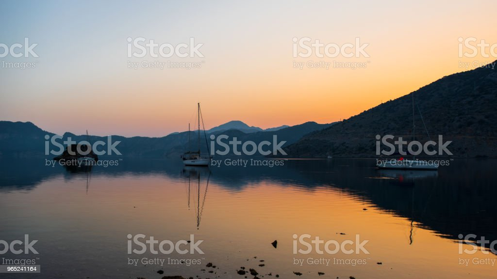 A calm sea at sunrise royalty-free stock photo