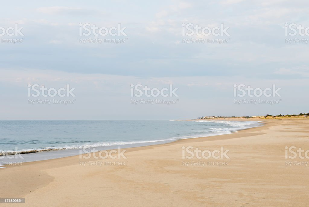 Calm Seas in Bethany Beach, Delaware stock photo