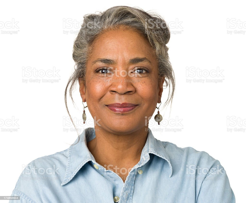 Calm Smiling Mature Woman Portrait stock photo