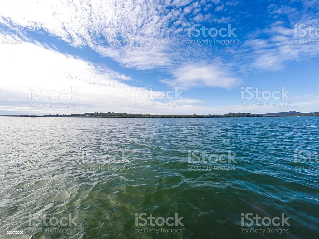 Calm Tropical Blue Oean Seascape stock photo