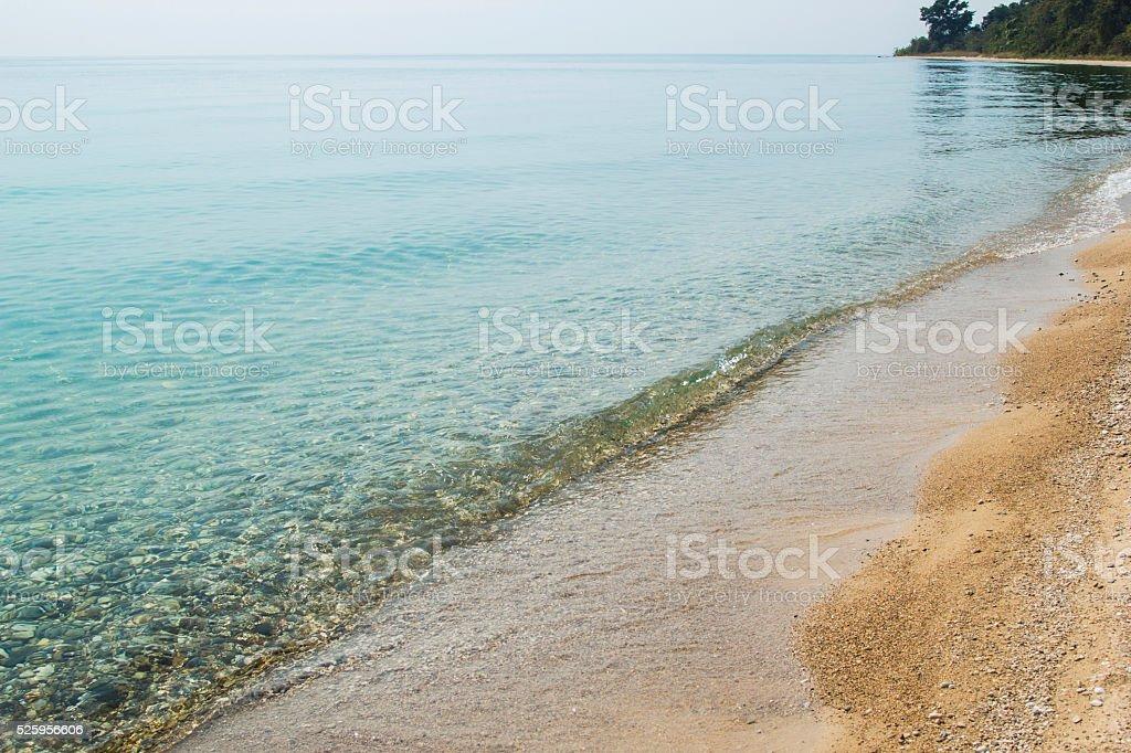 Calm water of lake Tanganyika stock photo