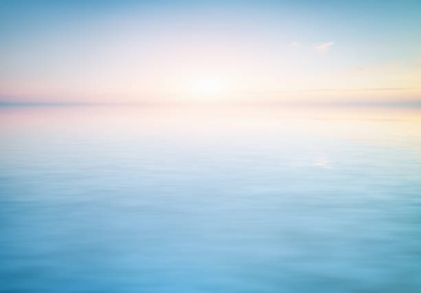 Calm water surface backgriund stock photo