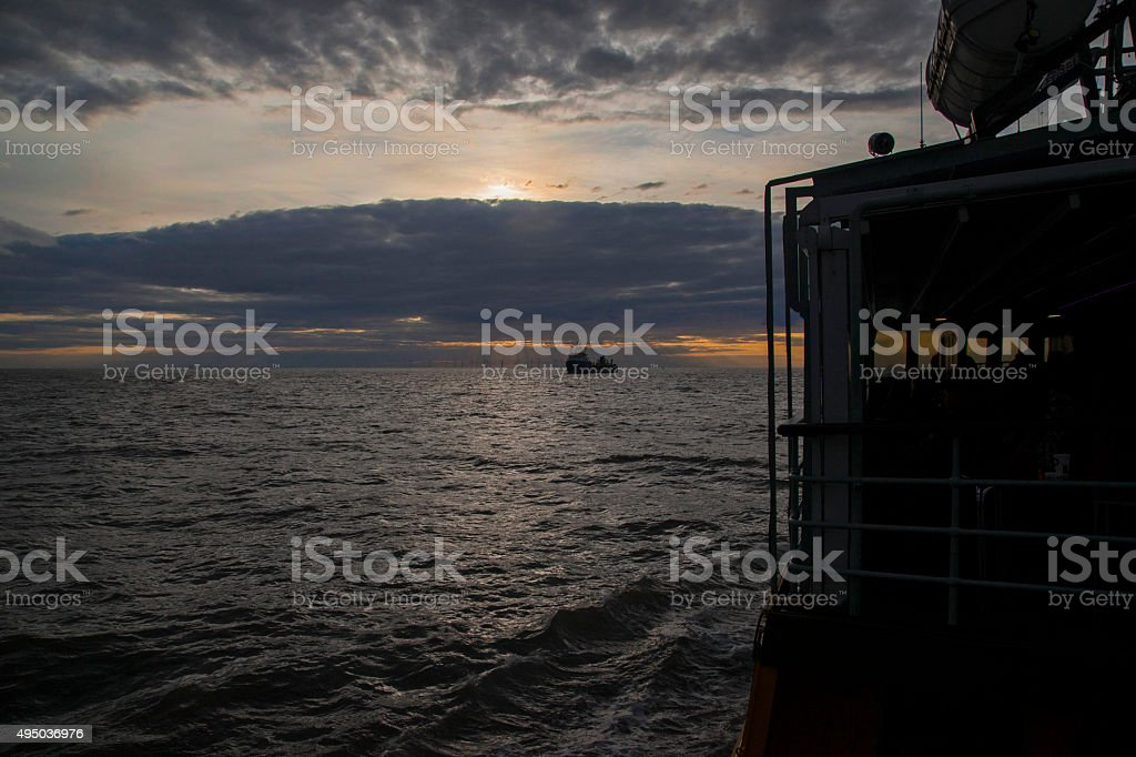 Calm Water Twilight royalty-free stock photo