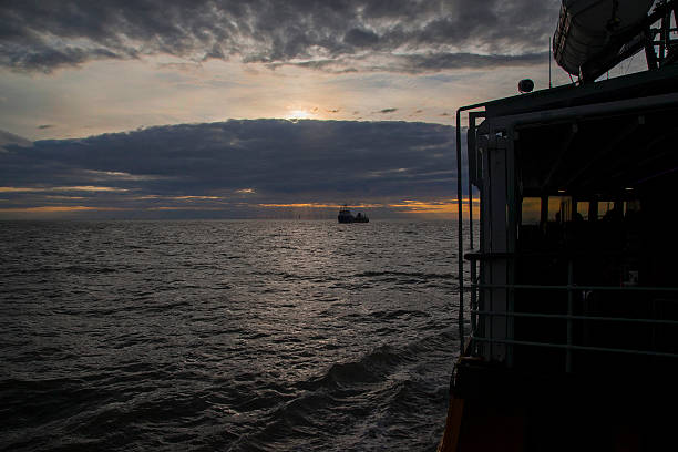 Calm Water Twilight stock photo
