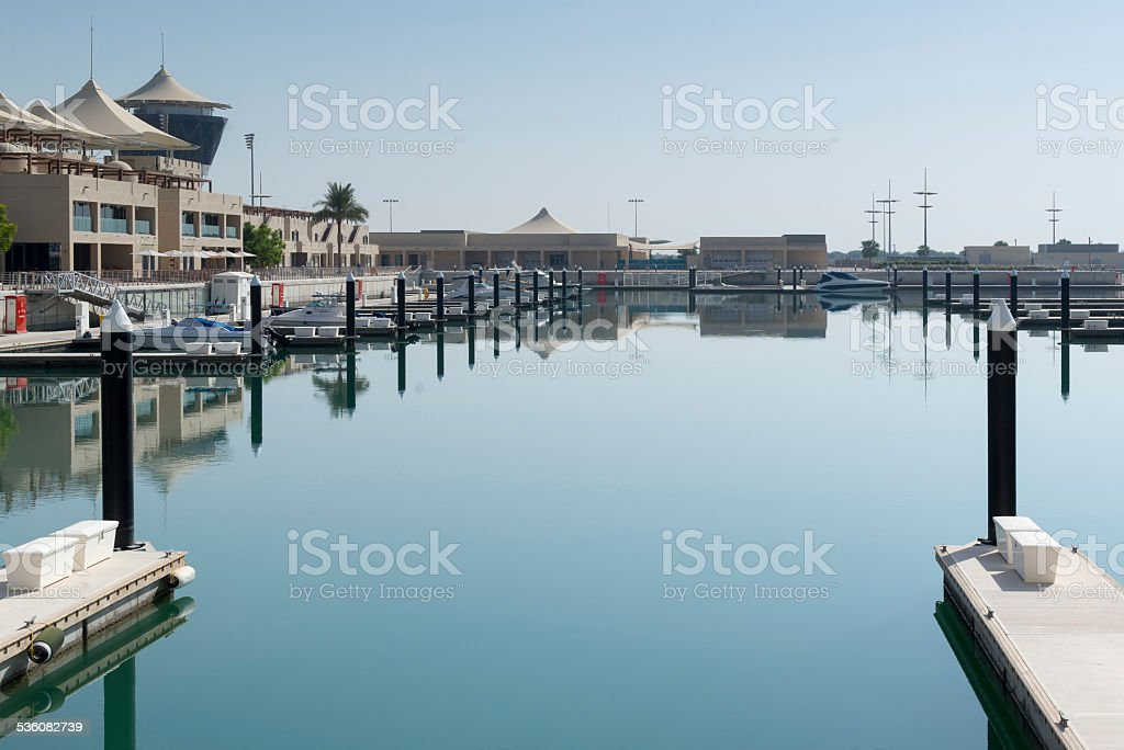 Calm waters of the middle east stock photo