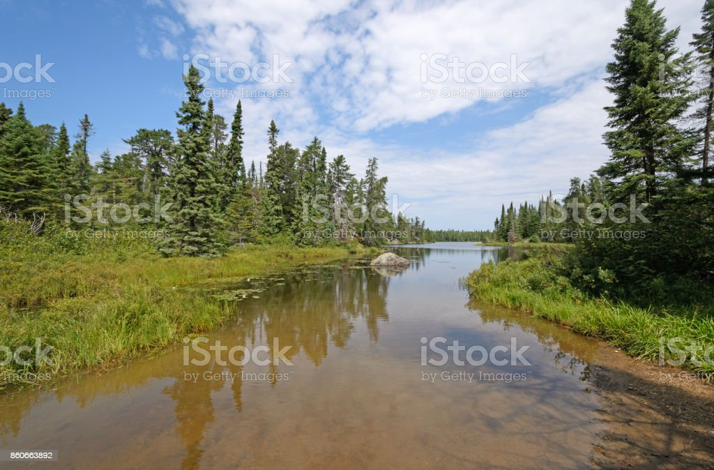 Calm Waters on a Quiet Inlet stock photo