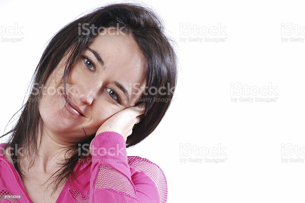 Calm woman, headshot royalty-free stock photo