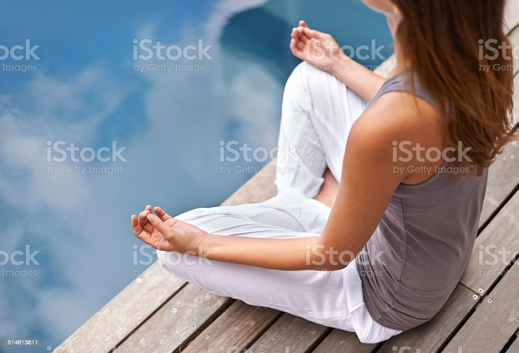 Calmness of the still waters stock photo