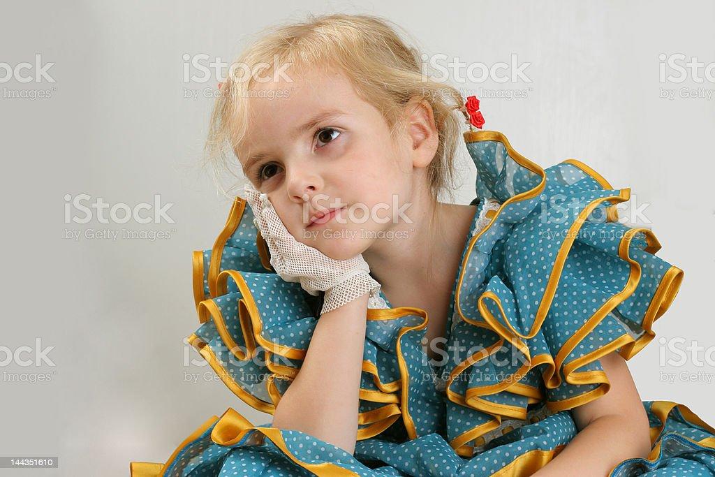 Calmness - retro girl royalty-free stock photo