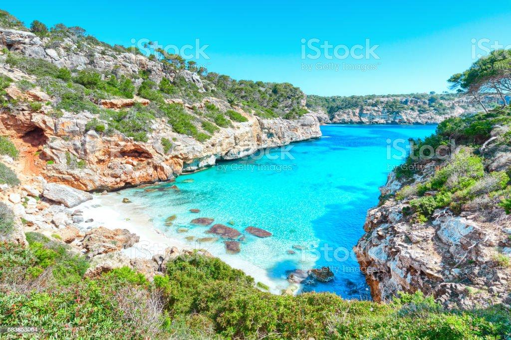 Calo des moro Mallorca Majorca beach - foto stock