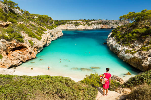 Calo des Moro, Mallorca. Spain Calo des Moro, Mallorca. Spain. One of the most beautiful beaches in Mallorca. bay of water stock pictures, royalty-free photos & images