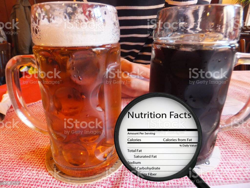 Calories in beer stock photo
