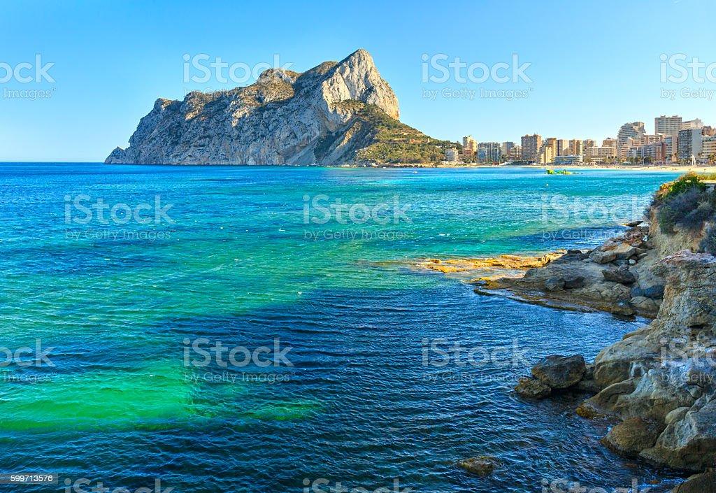 Calp summer coast, Spain. – Foto