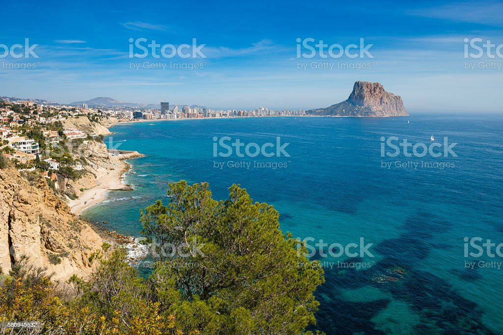 Calpe coast and Penon de Ilfach – Foto