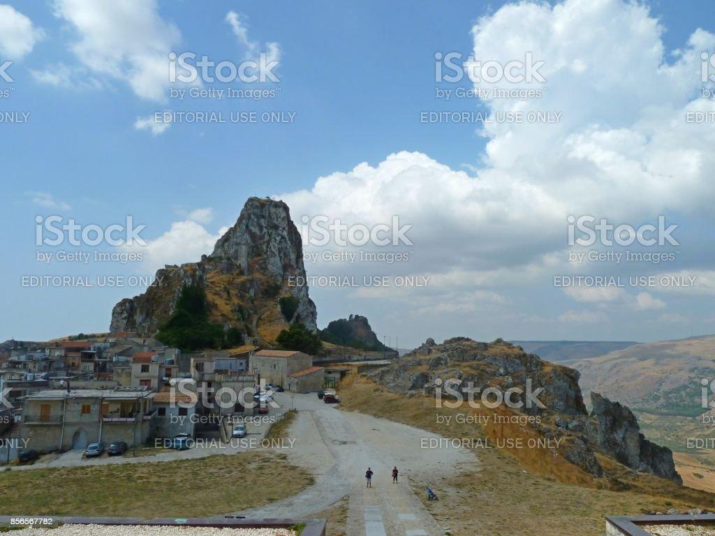 Caltabellotta, Sicily stock photo