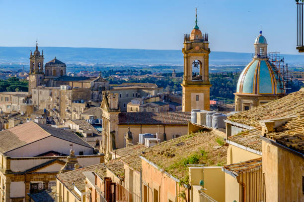 Caltagirone Old Town (Sicily, Italy) stock photo