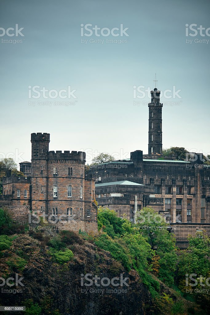 Calton Hill royalty-free stock photo