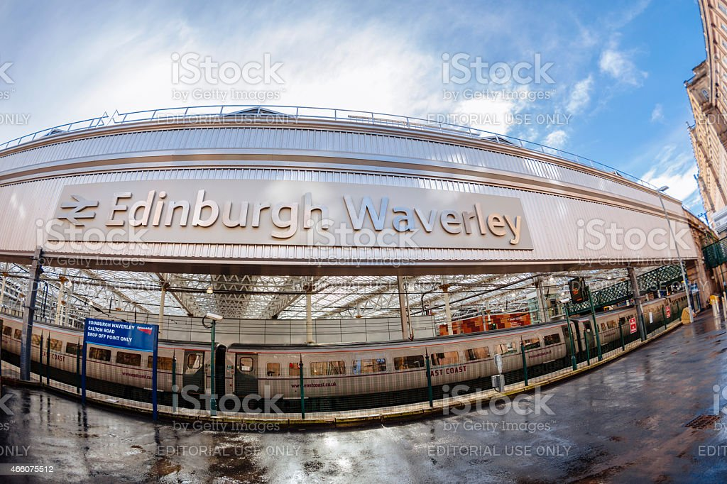 Calton Road Entrance To Waverley Train Station, Edinburgh stock photo