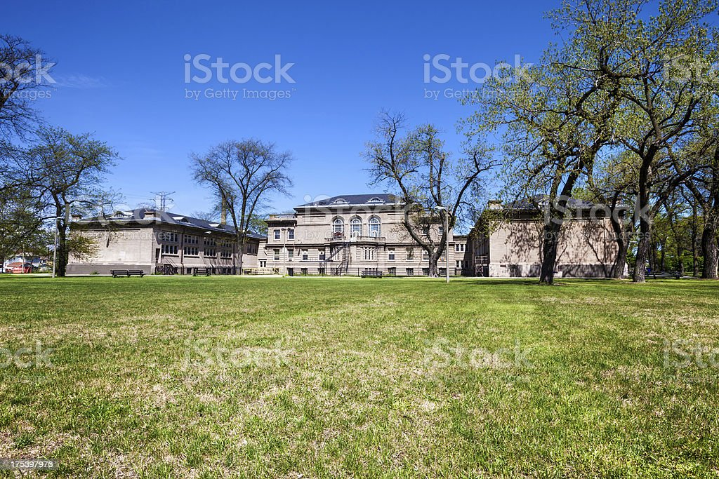 Calumet Park Field House in East Side, Chicago royalty-free stock photo