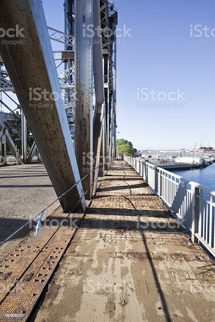 Calumet River Bridge in South Deering, Chicago royalty-free stock photo