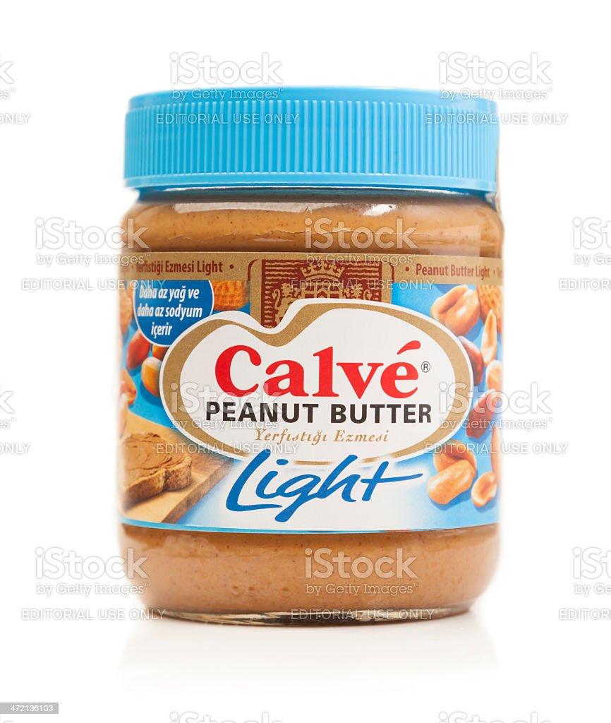 Calve Light Peanut Butter stock photo