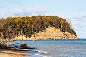 Calvert Cliffs in Lusby Maryland.